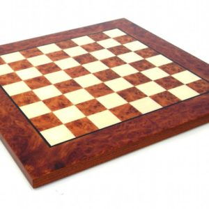 Briar Elm Wood Chessboard, Matt Finish (Square 1,5 Inch)