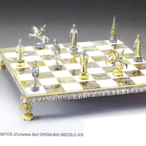 Kremlin Century XIX Complete Chess Set (Board And Pieces)
