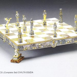 Egyptian Civilization Complete Chess Set (Board And Pieces)
