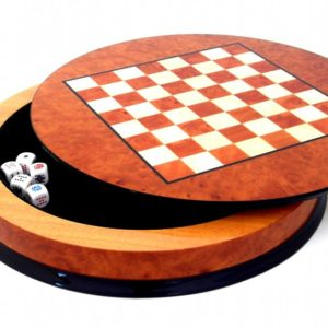 Poker Madrona's Root Chessboard Circle Base(With Poker's Dice)