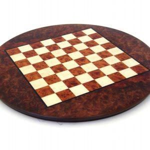 New Elm Root Round Chessboard, Matt Finish (Circle Base)