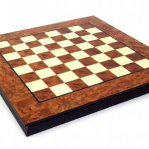Massive Briar Elm Wood Chessboard (Square 1,9 Inch)