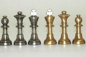 Little Brass Staunton Chessmen