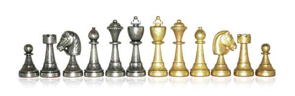 Classic Flower Chessmen Set
