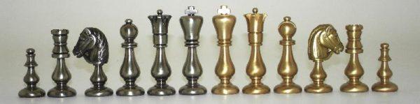 Small Oriental Class Brass Chessmen