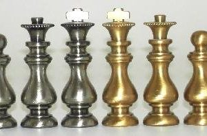 French Style Class Brass Chessmen
