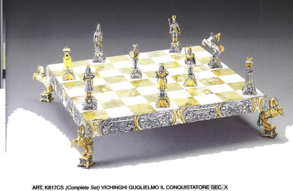 The Vikings William The Conqueror Century X Complete Chess Set (Board And Pieces)